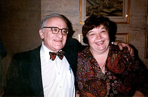 "Murray Rothbard - Rothbard with his wife ""Joey"""