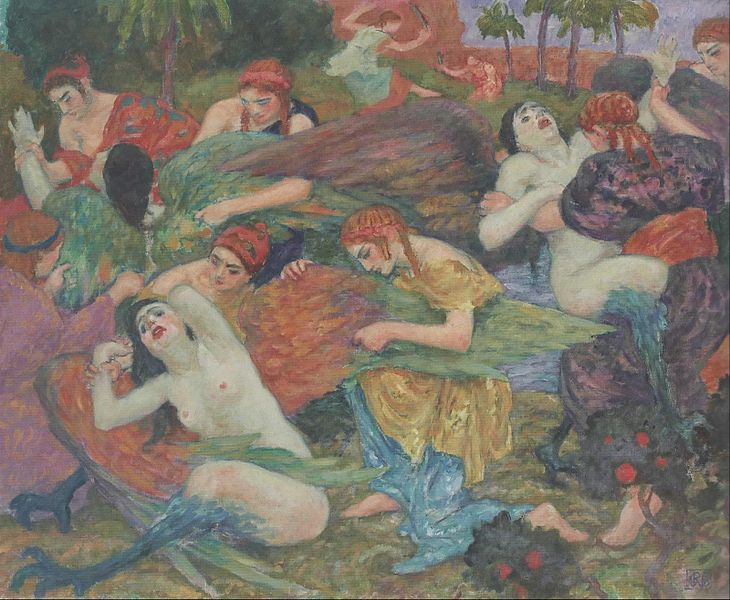 File:Muses Plucking the Wings of the Sirens - Rupert Bunny.jpg