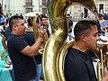 Musicians outside Church - Oaxaca - Mexico (15558249485).jpg