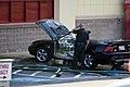 Mustang car fire at CVS on Key West Highway in North Potomac MD July 12 2012 (7575650094).jpg