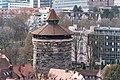Nürnberg, Stadtbefestigung, Neutorturm, Ansicht vom Sinwellturm-20160304-001.jpg
