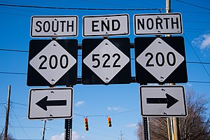 North Carolina Highway 200 - End of NC522 at NC 200 in Roughedge