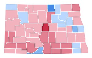 United States presidential election in North Dakota, 1996 - Image: ND1996