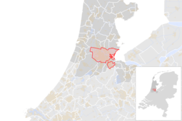 Locatie van de gemeente Amsterdam (gemeentegrenzen CBS 2016)