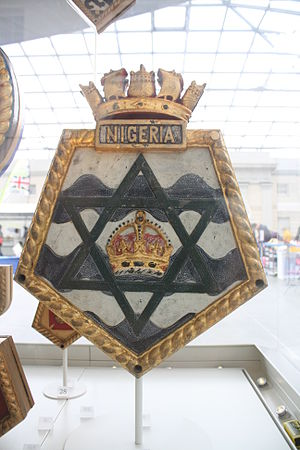 HMS Nigeria (60) - Ship's badge in the National Maritime Museum