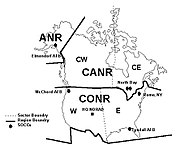 NORAD Region-Sector Map