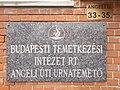 Nagytétény cemetery. Plaque. - Budapest District XXII.JPG