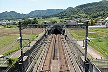 Nakayama tunnel north entrance of the Joetsu Shinkansen B.jpg