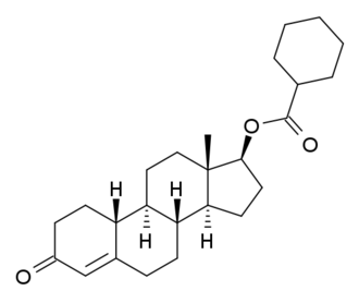 Nandrolone cyclohexanecarboxylate - Image: Nandrolonecyclohexan ecarboxylate structure