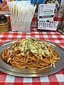 Naporitan (large) and baked cheese at Pancho, Kichijoji (33802074311).jpg