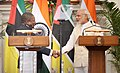 Narendra Modi shaking hands with President Filipe Nyusi of Mozambique.jpg