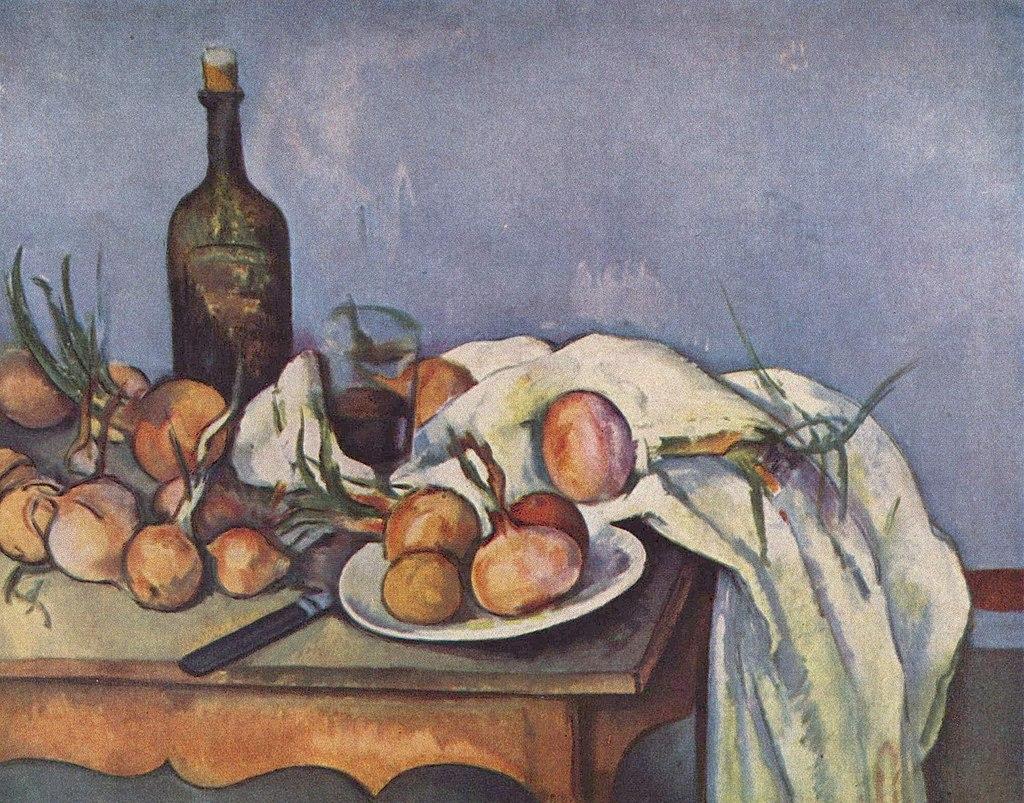 Nature morte aux oignons, par Paul Cézanne, musée d'Orsay, Yorck.jpg