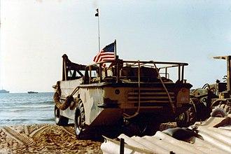 Multinational Force in Lebanon - Image: Navy Amphibian, Beirut 1982