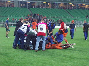2007 UEFA European Under-21 Championship - The Dutch team celebrating their victory after the final