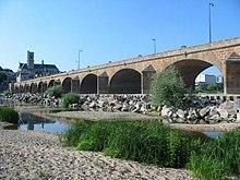 Photographie de la Loire quasi à sec à Nevers (58)