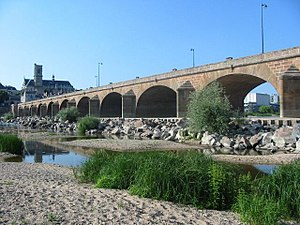 2003 European heat wave - Loire river almost dry near Nevers.