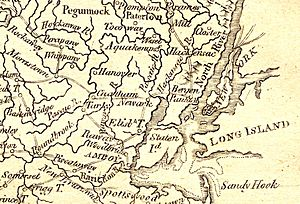 Forage War - Detail from an 1806 map showing the area where many of the skirmishes took place.