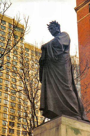 Dante Park - Image: New York Statua di Dante