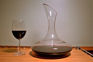 Wine accessory - A wine decanter.