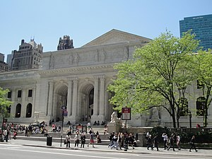 New York Public Library - The New York Public Library Main Branch in Bryant Park, Manhattan