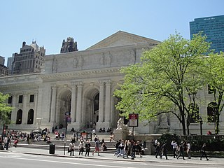 Main branch of New York Public Library and historic library building in Manhattan, New York