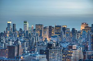 Midtown Manhattan Skyline at Twilight Hour