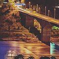 Night view of Attock bridge Khairabad kpk.jpg