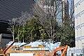 Nishikubo Hachiman shrine, visible after building destruction.jpg