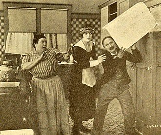 Isabelle Keith - Still with Fanny Kelly, Isabelle Keith, and Ben Turpin in No Mother to Guide Him (1919)