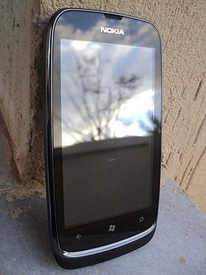 Nokia Lumia 610 - A Nokia Lumia 610 Front view