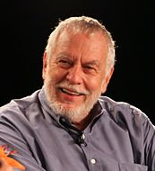 Nolan Bushnell giving a speech at the Game Developers Conference in 2011.