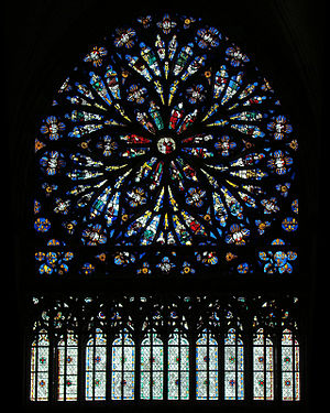 Alexandre de Berneval - Church of Saint Ouen, Rouen. Rose window: Tree of Jesse by Alexandre de Berneval.
