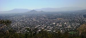 Recoleta, Chile - View of Recoleta from the San Cristóbal Hill.