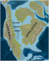 North America Late Cretaceous (~75mya) Western Interoir Seaway map PLoS ONE.png