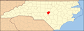 North Carolina Map Highlighting Lee County.PNG