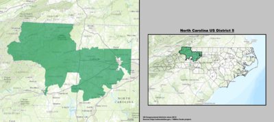 North Carolina's 5th congressional district - since January 3, 2013.