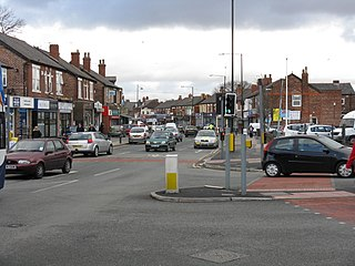 Northenden suburban area in the city of Manchester, England