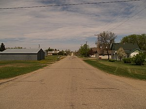 Norwich, North Dakota - Street in Norwich