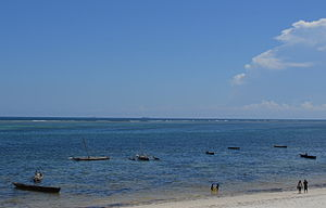 Nyali Beach from the Reef Hotel during high tide in Mombasa, Kenya 52 (edited).jpg