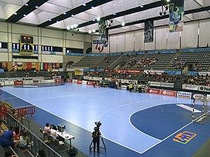 Palau d'Esports de Granollers - Interior of the arena.