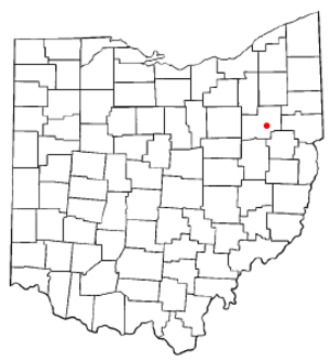 East Canton, Ohio - Image: OH Map doton East Canton