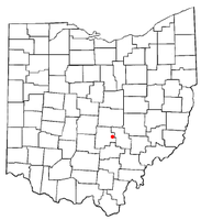 Location of Rushville, Ohio