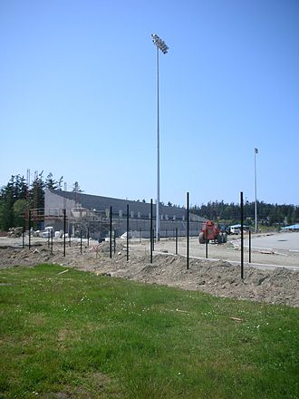 Oak Harbor High School (Washington) - Construction progress in early May
