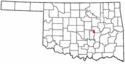 Location of Cromwell, Oklahoma