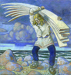Kalevipoeg - Illustration to Kalevipoeg by Oskar Kallis