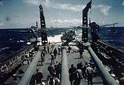 OS2U Kingfishers aboard USS Quincy (CA-71), in August 1944 (80-G-K-1948)