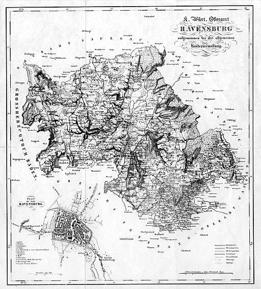 Oberamt Ravensburg Karte