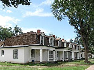 National Register of Historic Places listings in Lincoln County, New Mexico - Image: Officers Quarters Fort Stanton New Mexico