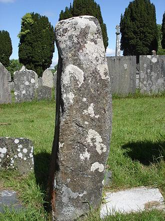 Cilgerran - Ogham Stone, St Llawddog's churchyard