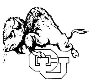 1945 Colorado Buffaloes football team - Image: Old CU Buffaloes Logo 40s